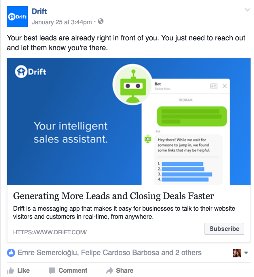 Lightning AI Case Study – Drift Facebook Ads